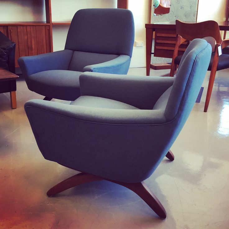 Fully restored Danish 1960's designer armchairs by Leif Hansen just in!