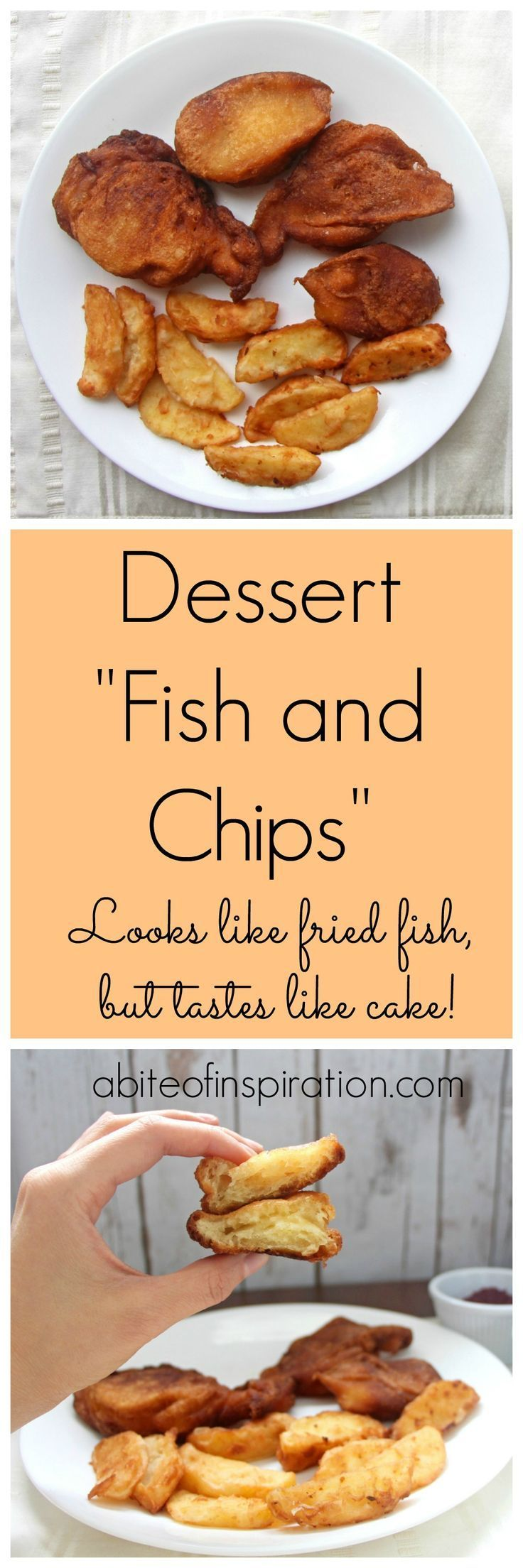 How to make april fools day chocolate bunny filled with veggies - Dessert Fish And Chips April Fools Dayfish
