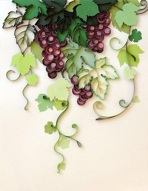 Quilled grapevines