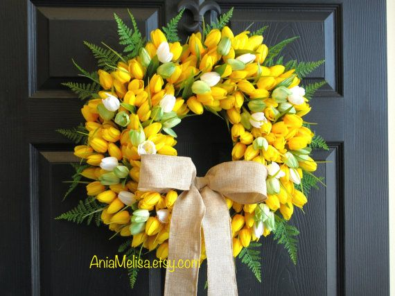 spring wreath-Easter wreath for front door wreaths by aniamelisa