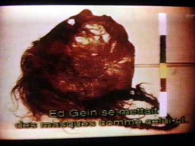 Ed Gein Skin Furniture Human scalp and skin mask - ed