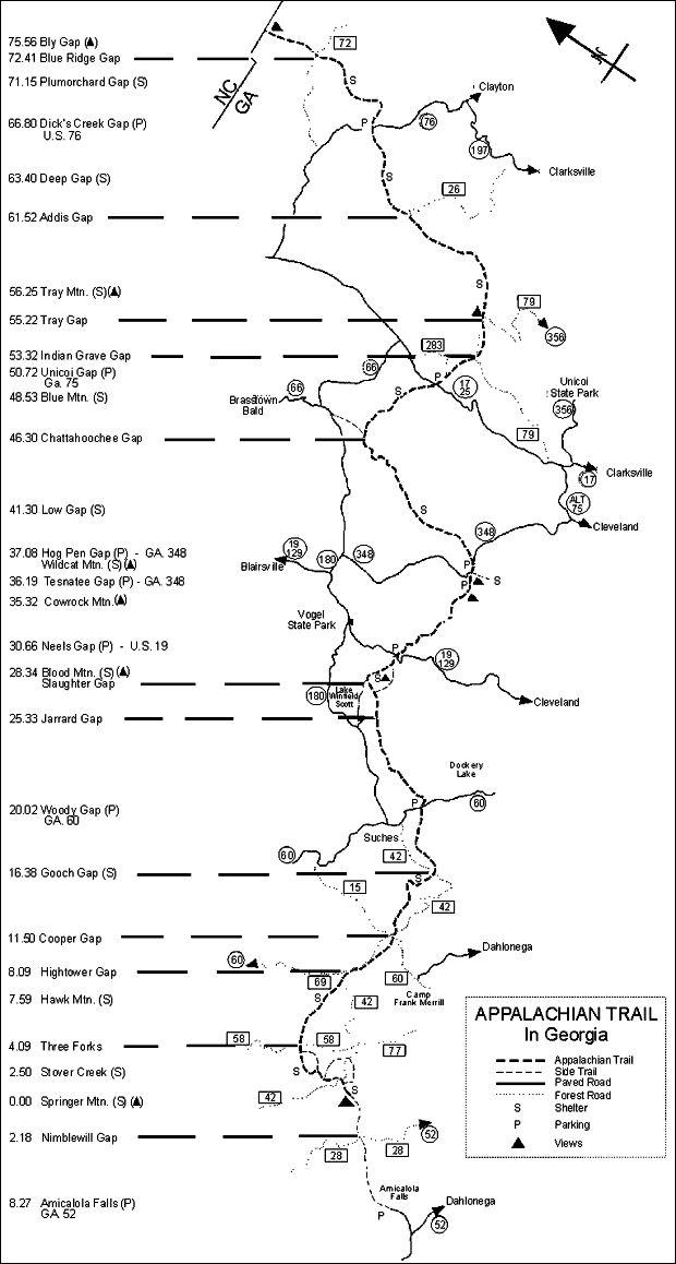 Best Map Of Appalachian Trail Ideas On Pinterest Appalachian - Georgia map fall line