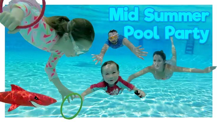 We are at a mid summer pool party splash.  We played around with the weighted water rings and red shark torpedo.  It was a beautiful sunny day.  It was perfect for taking a dip in the pool.  *Please Subscribe* www.youtube.com/c/busyizzy