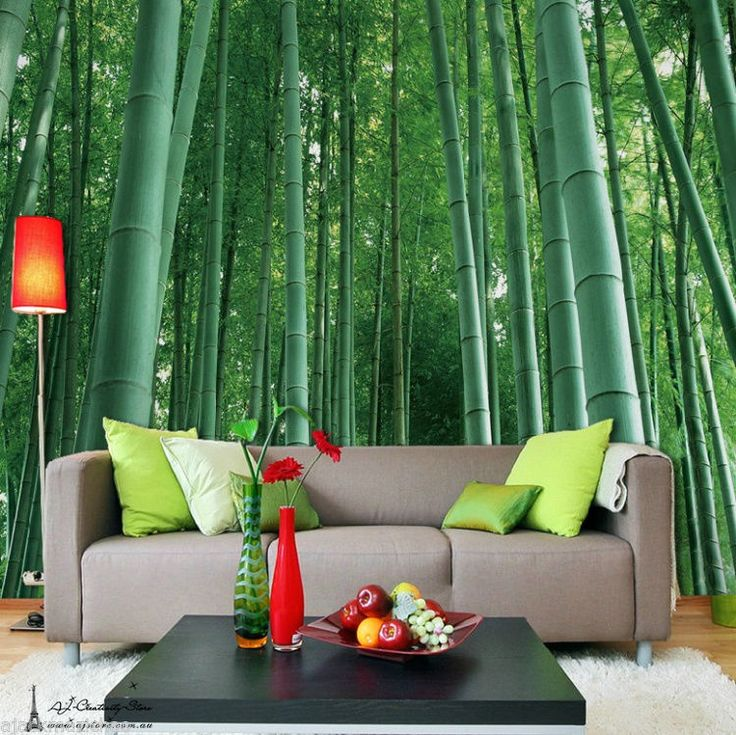 Large Bamboo Forest Wall Paper Wall Print Decal Wall Deco Indoor Wall Mural  Home Part 54