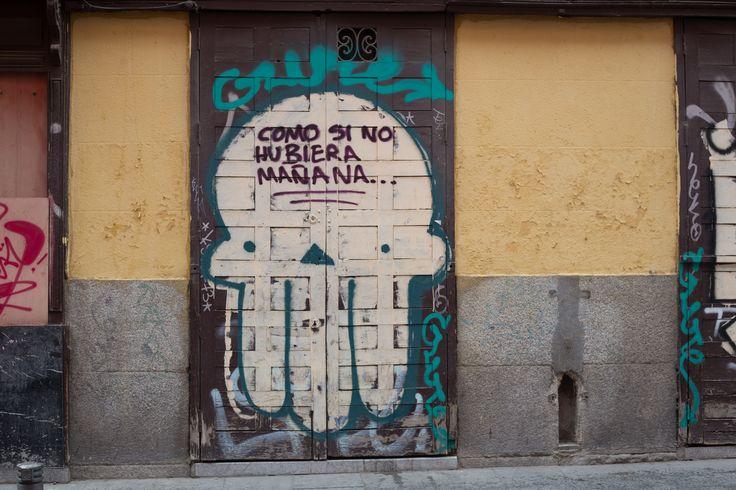 Calle de la Cava Alta, Barrio de La Latina, Madrid 17 de octubre de 2015