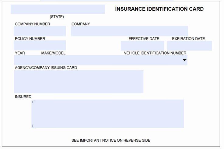 Fake car insurance card template awesome fake car
