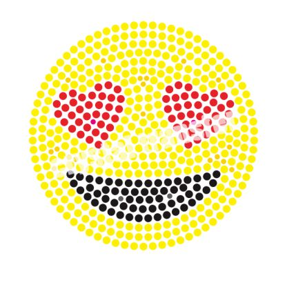 Love Heart Emoji Clothing Transfers Iron On