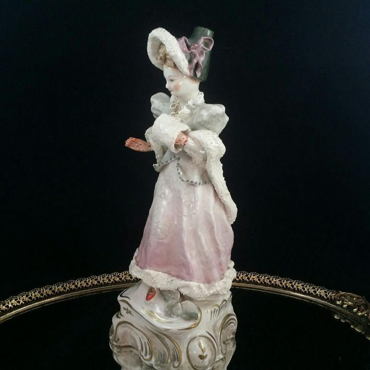 Cordey Porcelain Figurine Victorian Sculpture Bust Statue Cordey Figurine Hand Painted Lace Figurine Cordey Trenton New Jersey by OldGLoriEstateSale on Etsy