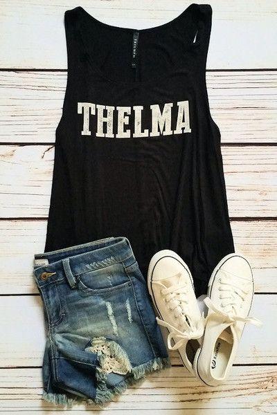 Spring fashion, summer fashion, graphic tank, Thelma tank by Jane Divine Boutique www.janedivine.com