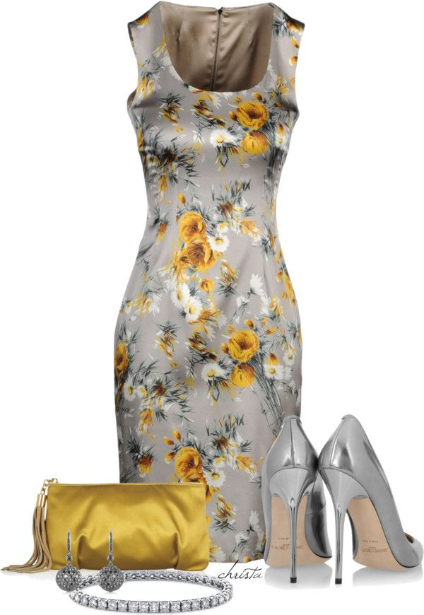 """""""D Floral Dress"""" by christa72 ❤ liked on Polyvore"""