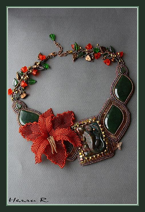 Gallery.ru / Колье Lizard - Колье Lizard - Beady09