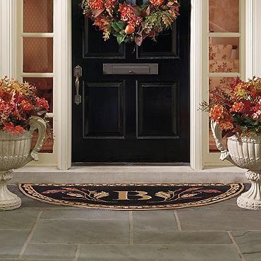 Fall Flourish Half Round Door Mat  Love the Hardware so elegant!!