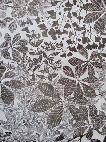 Chestnut - Marthe Armitage   1978  Lino block printed wallpaper