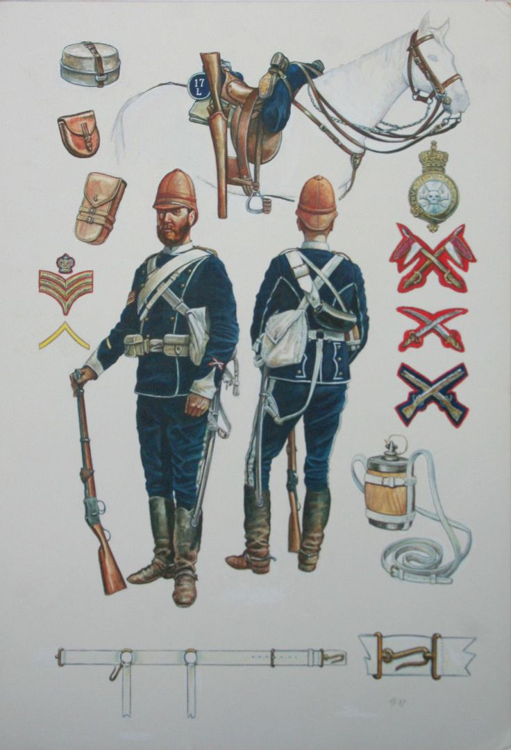 British; 17th Lancers, South Africa, 1879 by R.Scollins
