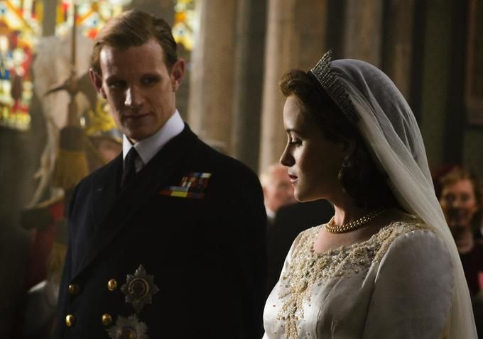 "Claire Foy and Matt Smith in ""The Crown."" Nov 2016 Netflix"