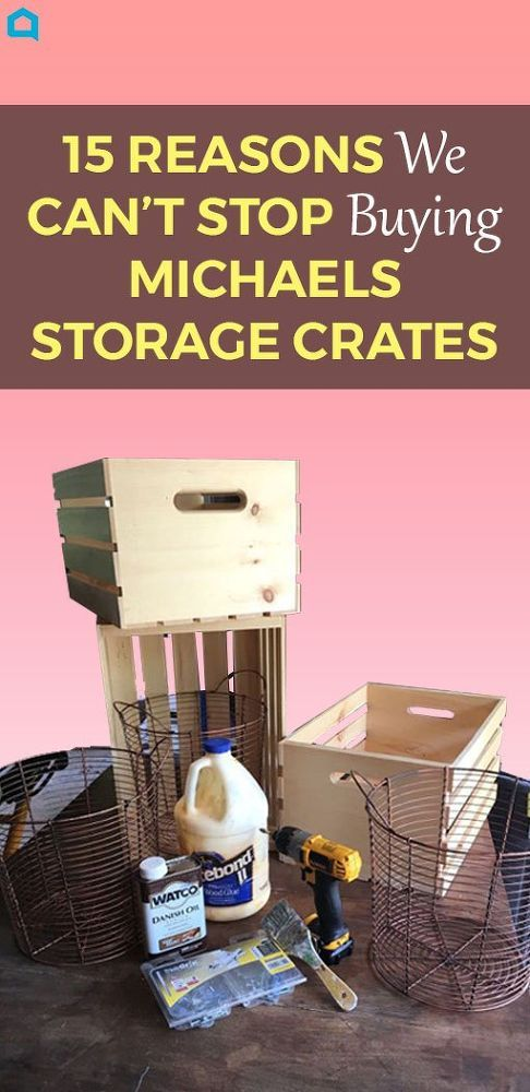 15 DIY Storage Crate Crafts Projects! Next time you're at Michaels, grab a few storage crates and copy this woman's simple and clever idea!