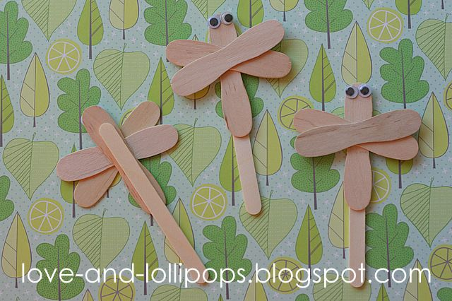 Popsicle Stick Ornaments | Love and Lollipops: Dragonfly craft