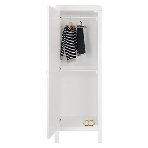 Buy John Lewis Alex Single Wardrobe, Solid White Online at johnlewis.com