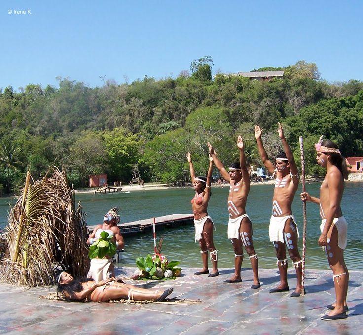 Aboriginal dancers, Matanzas, Cuba