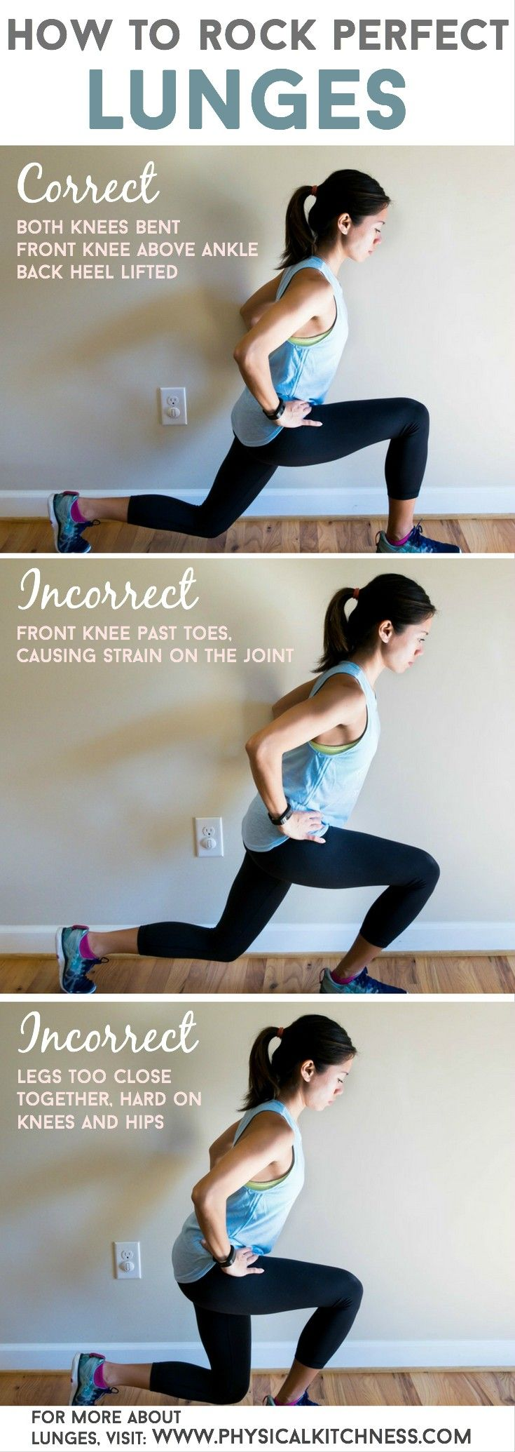 LUNGES: a how-to guide for correct form sculpt your bottom half with amazing…