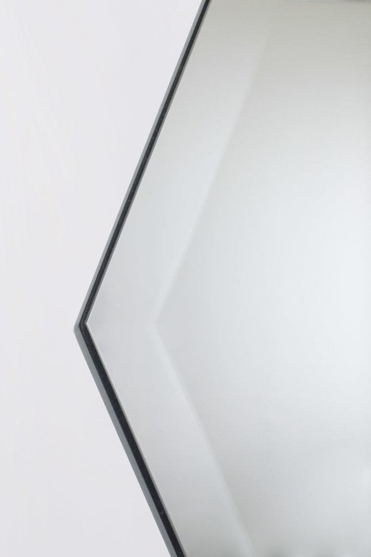 Haidee Drew Hexagon illusion Facet Mirror in Grey, Silver and Bronze Large and Small Bevels