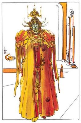 Jodorowsky's Dune, concept by Moebius. Padishah Emperor Shaddam IV