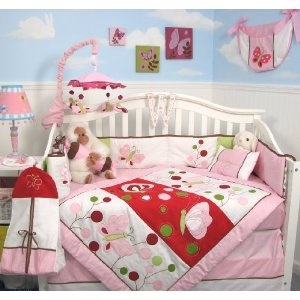 SoHo Chasing ButterfliesBaby Crib Nursery Bedding Set 13 pcs included Diaper Bag with Changing Pad & Bottle Case (Baby Product)  http://www.amazon.com/dp/B000XRY79A/?tag=beddingset0f-20  B000XRY79A