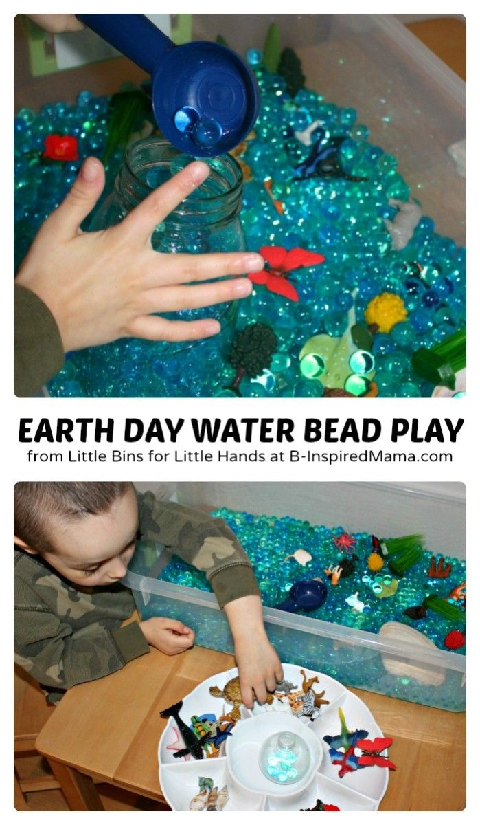 Sensory Earth Day Activities using Water Beads