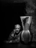 [파블로 피카소,Pablo Picasso], 유섭 카쉬(Yousuf Karsh).  1945,사진,젤라틴 실버 프린트/76.2x101.6cm,유섭카쉬 재단.  아.. 피카소.