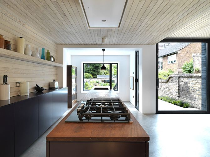 Timber kitchen extension in London