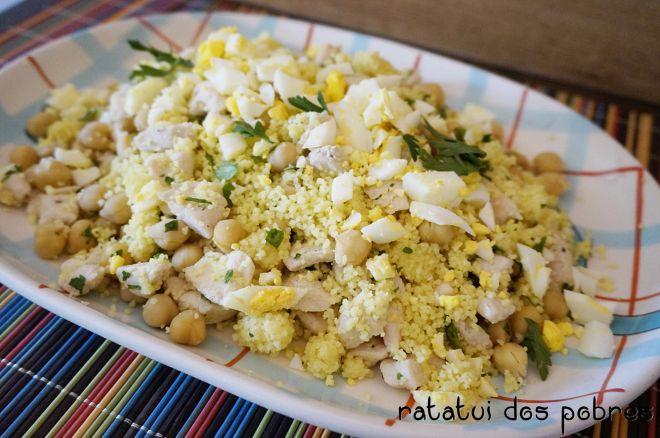 Salada de couscous da India c/ frango e grão | ratatui dos pobres