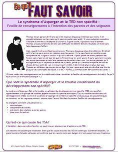 Le syndrome d'Asperger & le TED non spécifié Cliquez pour ouvrir (au format PDF)