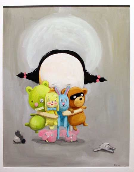 """Painting by Francois van Reenen - """"The death of cute"""""""