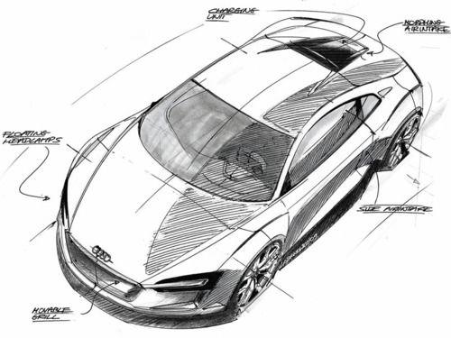 Audi R8 Sketch
