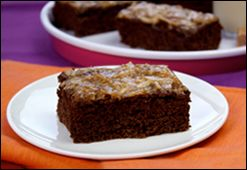 Gooey Carmel Coconut Brownies from Hungry Girl - 4 WW pts. plus.Amazing Recipe, Caramel Coconut, Brownies Recipe, Loss Recipe, Gooey Caramel, Coconut Brownies, Healthy Recipe, Weights Loss, Caramel Cake