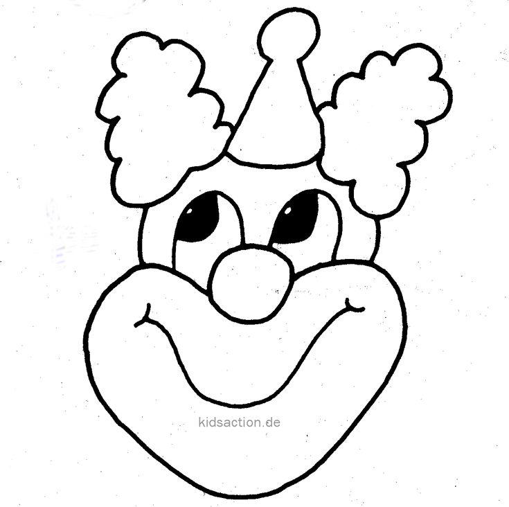 vorlage  clown basteln vorlage vorlagen ausmalbilder