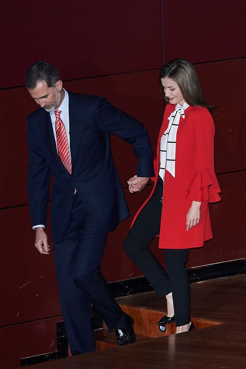 March 14, 2017..King Felipe and Queen Letizia attended the delivery of Accreditation of the 7th edition of 'Honorary Ambassadors of the Spain Brand'