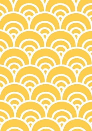 Yellow japanese pattern