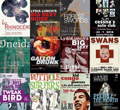 Scrapesound - hudební plakáty