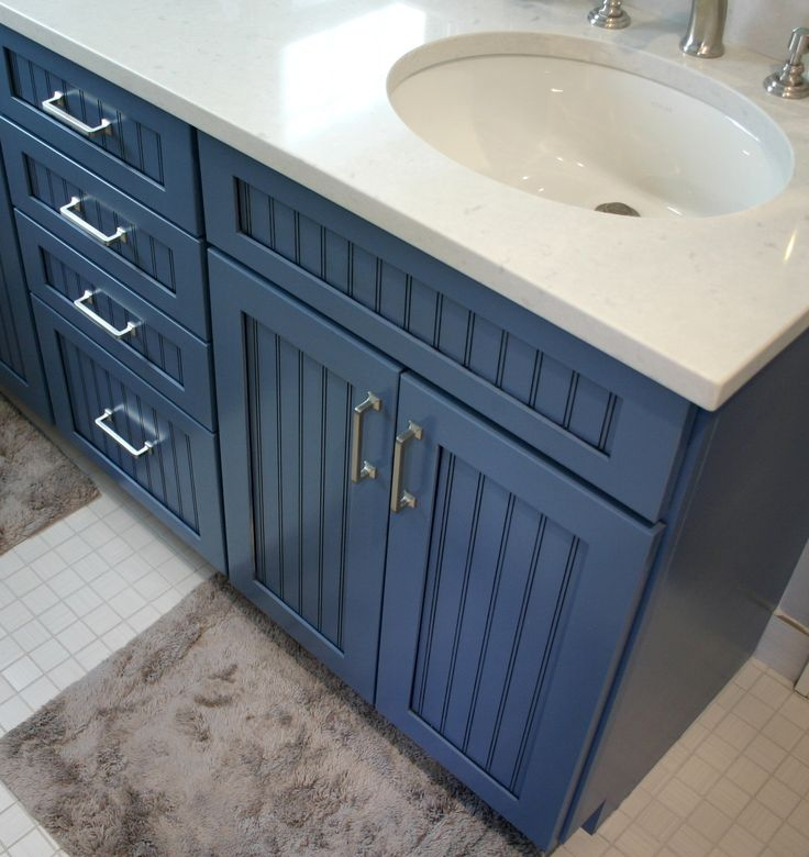 Bkc Kitchen And Bath Denver Bath Remodel Mid Continent Cabinetry Cottage Door Style Blue Bathroomsbathrooms Decorbathroom Vanity Cabinetsbathroom