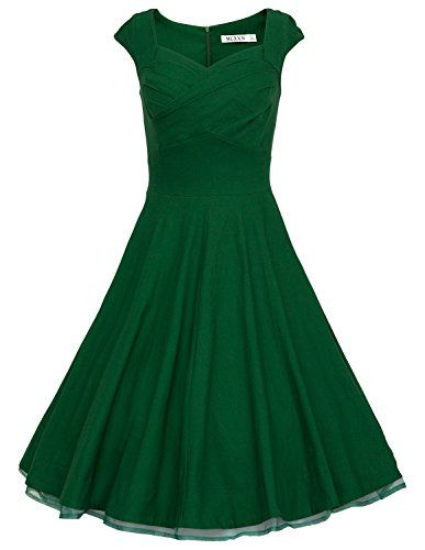 MUXXN Women 1950s Vintage Retro Capshoulder Party Swing Dress (XL, Green) MUXXN http://www.amazon.com/dp/B00SR5VT6Y/ref=cm_sw_r_pi_dp_RVsxvb1MNCC4E