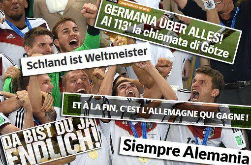Argentinische Pressestimmen, Zeitungen aus Deutschland, internationale Online-Medien: Das schreibt die Presse über den neuen Weltmeister Deutschland. Die Bilder... Foto: AZ