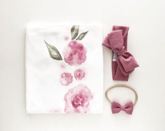 PRE-ORDER  Organic Baby Swaddle Blanket  by finnandolive on Etsy