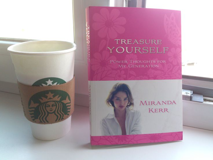 Starbucks coffee and Miranda Kerr book