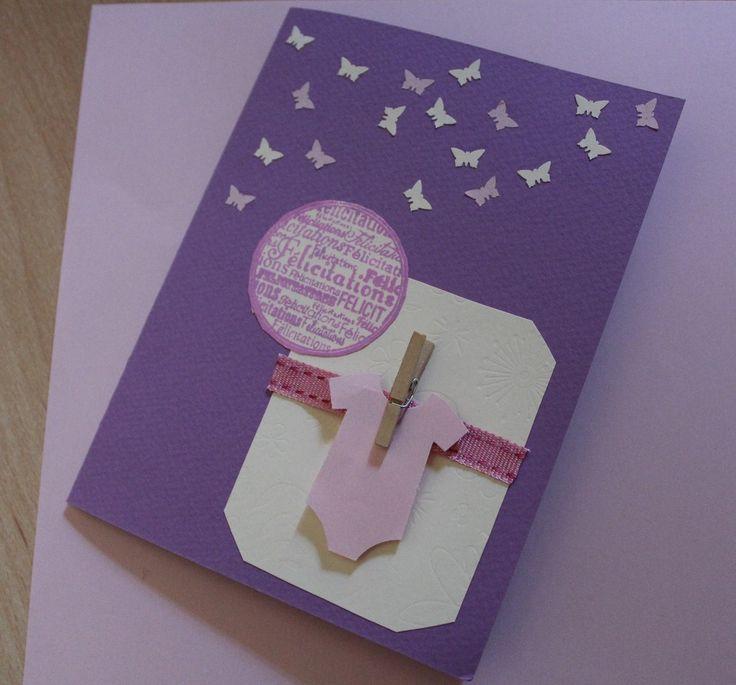 Carte de félicitations naissance fille