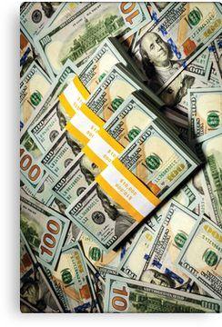 '100 Dollar Bill – Money' Canvas Print by rocklanone