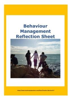 Said the same old things time and again?Feel like a broken record?Nothing seems to work for the same kids again?Try this unusual Reflection Sheet.This sheet really works. The students must focus on their own behaviour, not what happened or what anyone else did.They must think about their behaviour.