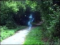 A group of amateur film-makers believe they may have proof that ghosts really do exist after one of them caught something strange on camera. George Gunn said he captured pictures of a ghostly apparition wh