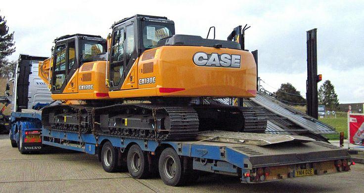 CASE excavators on low loader March 2014 2