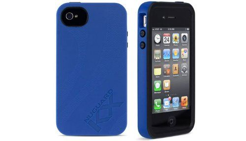 """Newer Technology NuGuard KX Protective Case for iPhone 4/4S - Blue/Midnight. Features a unique & revolutionary kinetic energy X-orbing gel that aborbs and deflects damaging impacts away from the phone. Independently tested and certified at Quanta Laboratories to withstand the U.S. Military shock test method MIL-STD-810G making the KX tough enough for military use. Exceptional protection without bulk - slightly over 0.5"""" thick including the phone. Edge Guard over-molding provides enhanced..."""